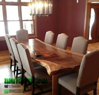 Kursi makan meja makan kayu trembesi solid